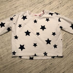 Gymboree White with Blue Stars Sweatshirt
